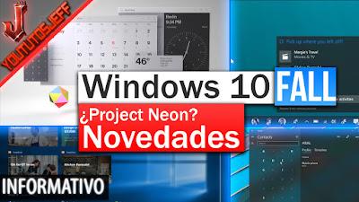 Novedades de windows 10 fall