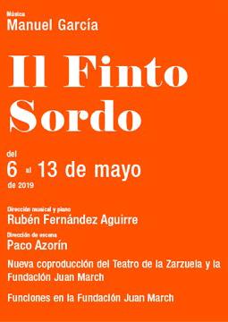 Il Finto Sordo [Fundación Juan March y Teatro de la Zarzuela]