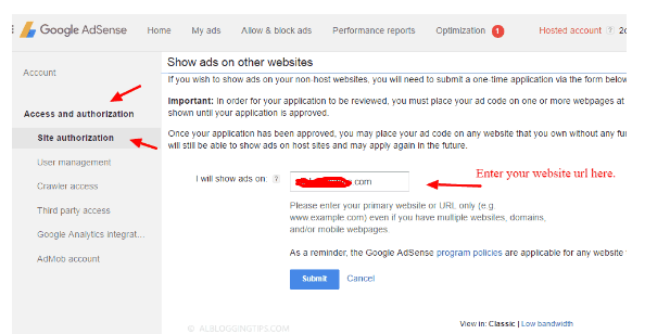 How to update hosted AdSense to Non-hosted AdSense Account