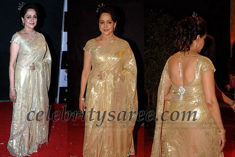 Hema Malini in Beautiful Sari at Golden Petal Awards - Saree