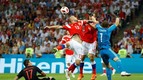 بركلات الترجيح كرواتيا تعبر الى نصف نهائي المونديال على حساب روسيا