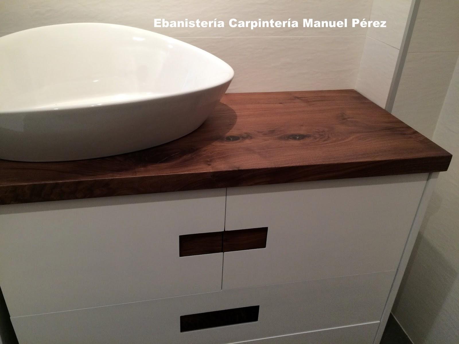 Ebanisteria carpinteria manuel perez zaragoza mueble - Encimera madera maciza ...
