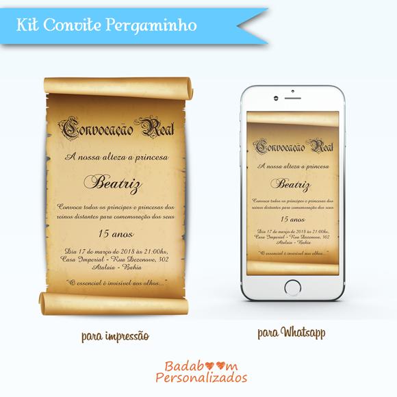 Kit de artes digitais Pergaminho