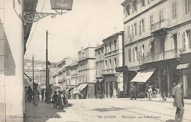 Carte postale de Mustapha, Rue Sadi-Carnot