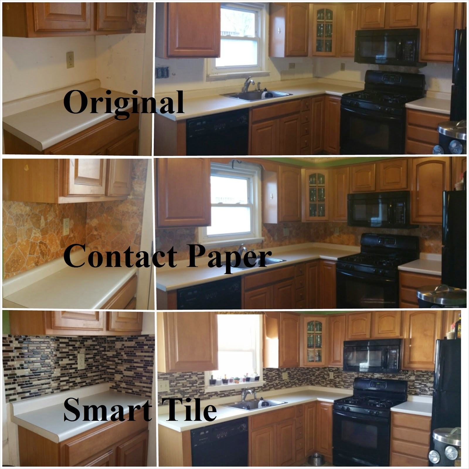 Contact Paper Used For Backsplash In Kitchen