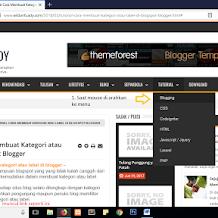 Tutorial Cara Membuat Link Menu Berdasarkan Label / Kategori di Blogspot | Blogger
