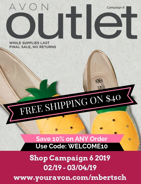 Avon Outlet Brochure are full of beauty bargain sales. Shop Avon Outlet Catalog Campaign 6 2019 online. #Avon #AvonOutlet #AvonCatalog #AvonRepresentative #AvonClearance #bargainshopping