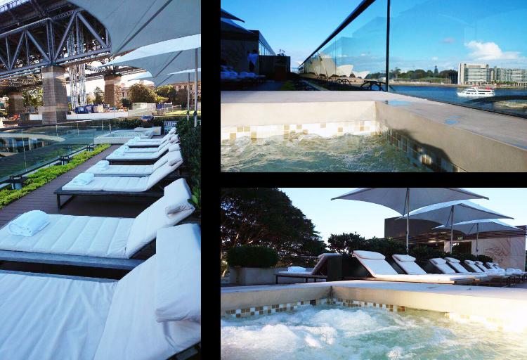 Park Hyatt Sydney rooftop pool, view of Sydney Opera House, Australia, Euriental
