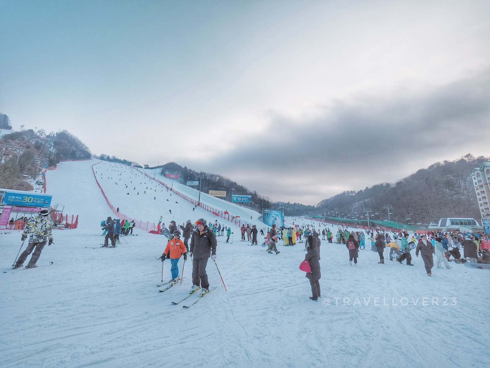 Korea 2018vivaldi Park One Day Ski Snowboard Shuttle Bus Tour Winter Package 4d3n The Basic Lesson Is 6 7 People In A Group And Took For An Hour Firstly Alex Taught Us Technique How To Put On Take Off