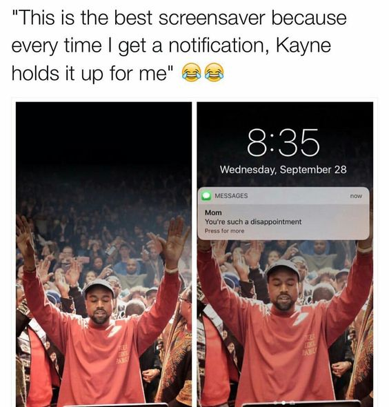 Funny Kanye Screensaver Picture