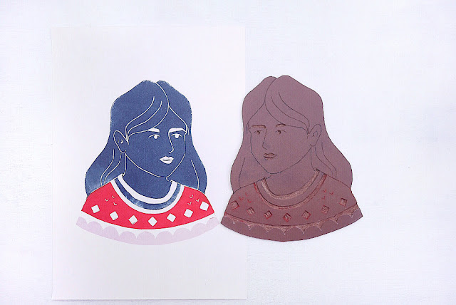 linogravure pull jacquard 3 couleurs
