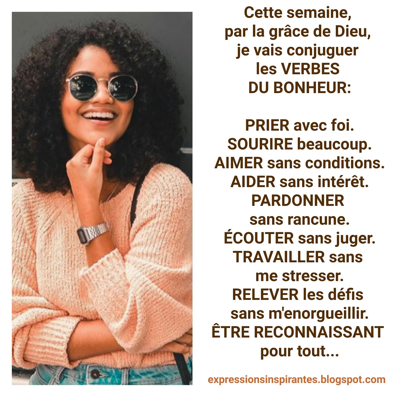 Expressions Je Vais Conjuguer Les Verbes Du Bonheur