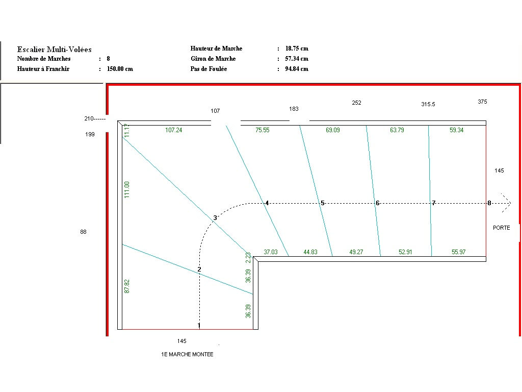 autoconstruction herv nicolas calcul de l 39 escalier montage de l 39 escalier. Black Bedroom Furniture Sets. Home Design Ideas