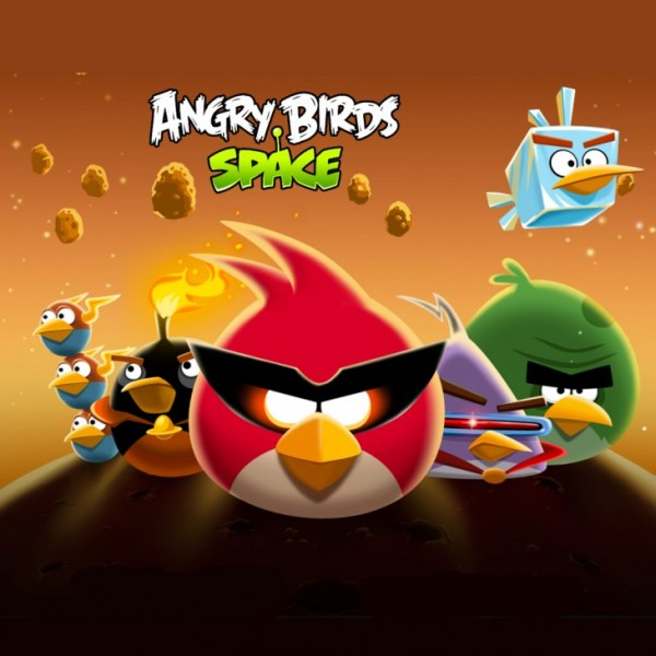 Angry Birds Space Bird Clan Light iPad Wallpaper