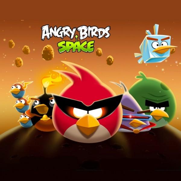Angry Birds Space Bird Clan Light iPad Wallpaper