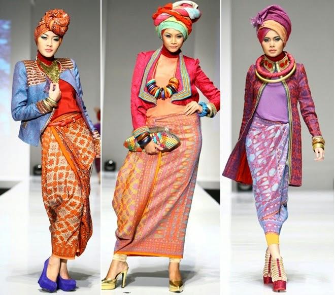 Contoh Desain Baju Muslim Batik Dian Pelangi 2015