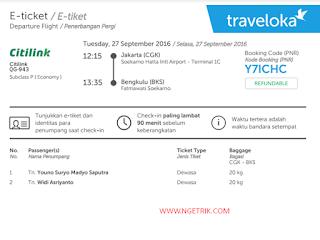 Traveloka tiket Pesawat Citilink