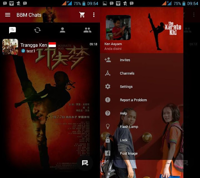 Preview BBM Karate Kid V2.10.0.31