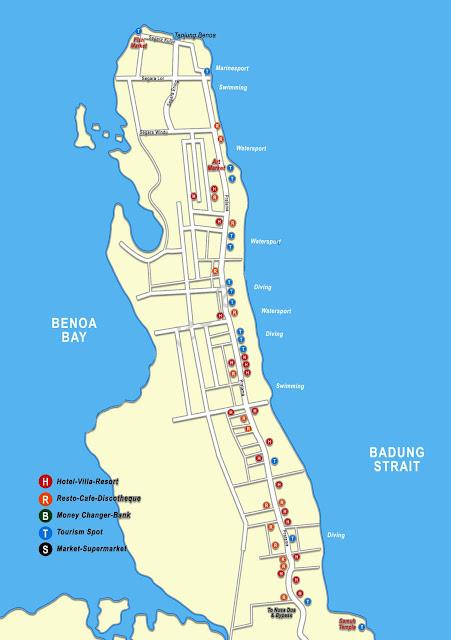 Gambar Peta Tanjung Benoa, Bali