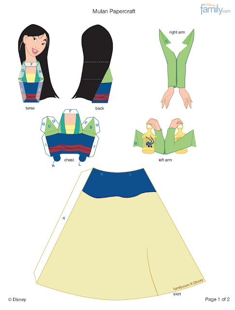 Princesse Disney en Papier - Tutoriel Papercraft Disney