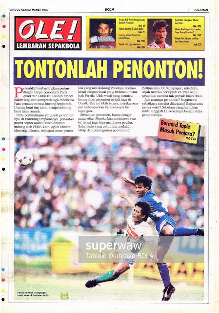 LEMBARAN SEPAKBOLA: TONTONLAH PENONTON!