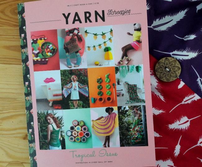 Scheepjes Bookazine YARN 3, the tropical issue   Happy in Red