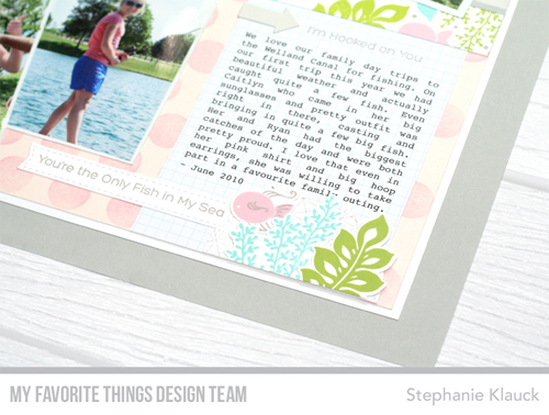 Handmade scrapbook layout from Stephanie Klauck featuring products from My Favorite Things #mftstamps