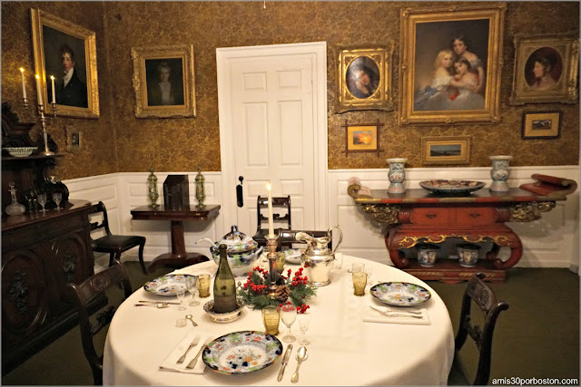 Comedor de la Longfellow House Washington's Headquarters National Historic Site