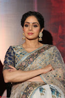 Sri Devi in designer saree stunning beauty at the launch of MOM movie Trailer~  Exclusive 100.JPG
