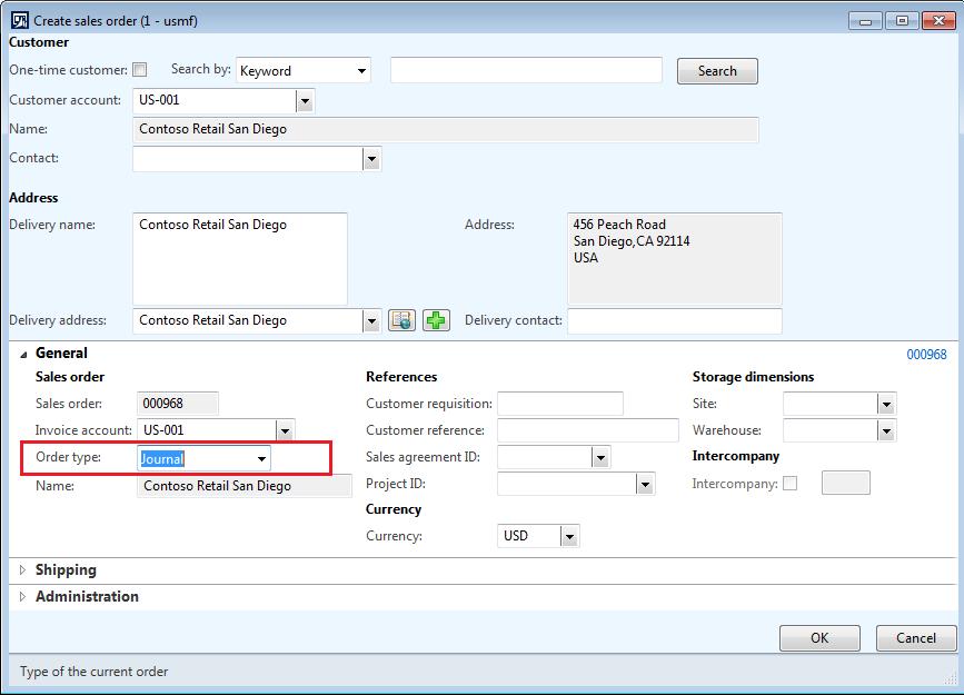 Sales order types in AX 2012 R3 - Microsoft Dynamics AX