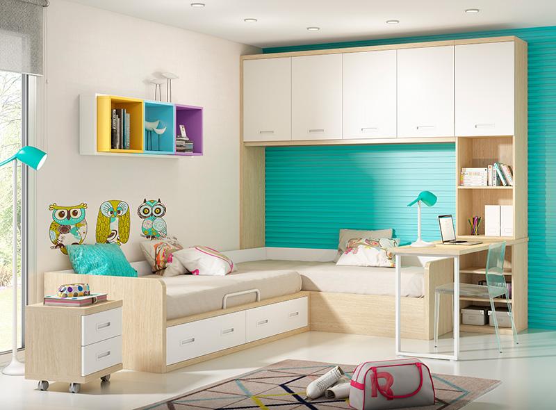 Blog dormitorios juveniles valencia 10 ideas de - Dormitorios con poco espacio ...