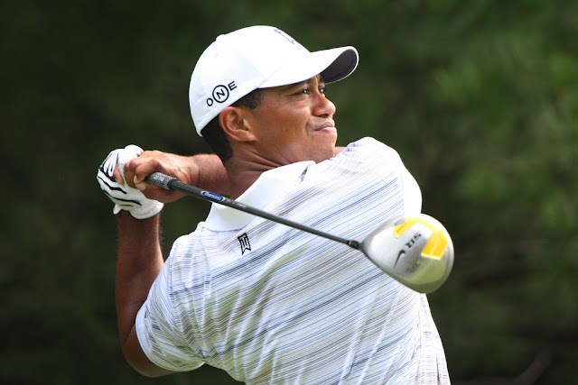 Tiger Woods appears often on the list of PGA Tour scoring leaders