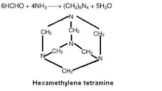 hexamethylene tetramine.