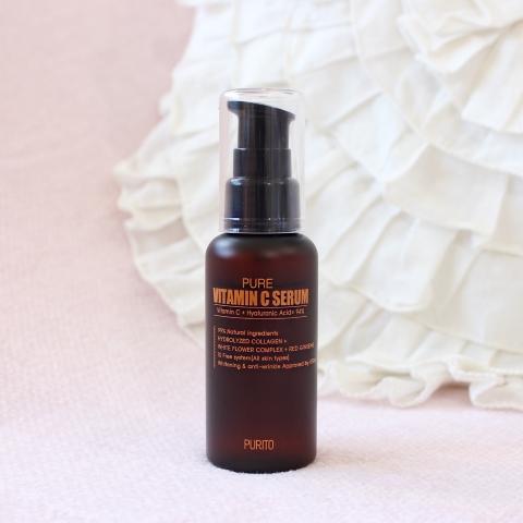 Purito review Pure Vitamin C Serum kbeauty korean beauty blog blogger 퓨리토 리뷰 뷰티 스킨케어 퓨어 비타민 씨 세럼