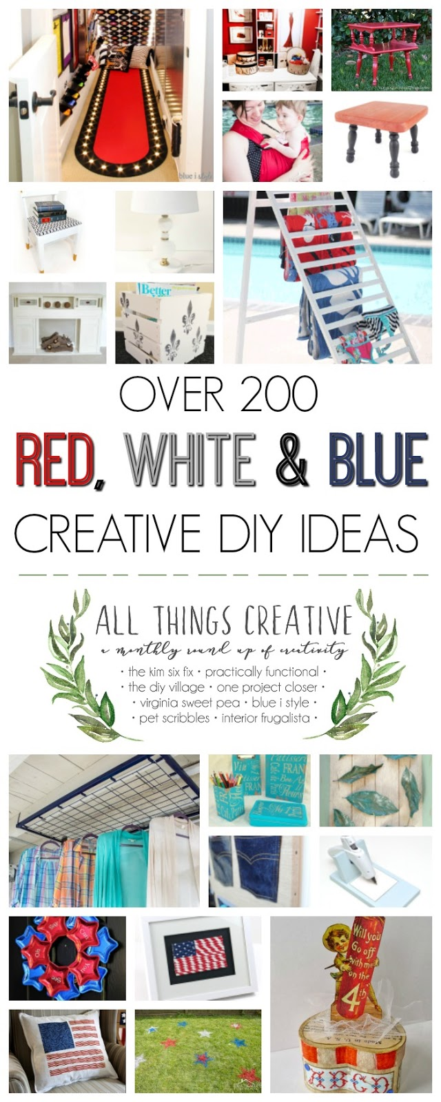 200+ Red, White and Blue DIY Ideas