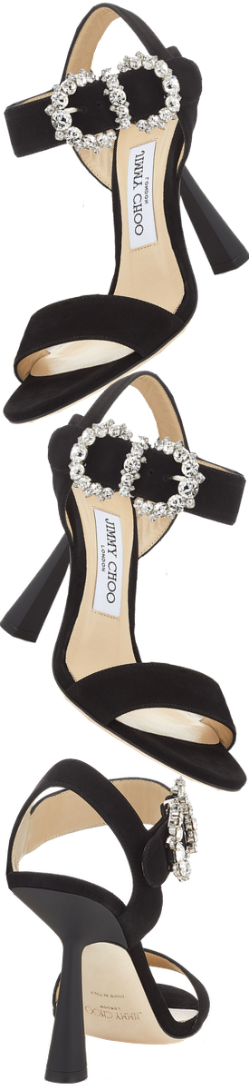 JIMMY CHOO SERENO 100 SANDAL IN BLACK