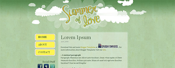 Summer of Love Blogger Template