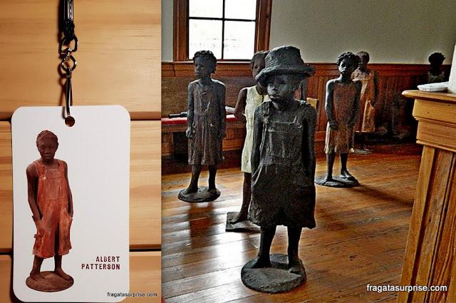 Memorial às crianças escravizadas na Whitney Plantation, Luisiana