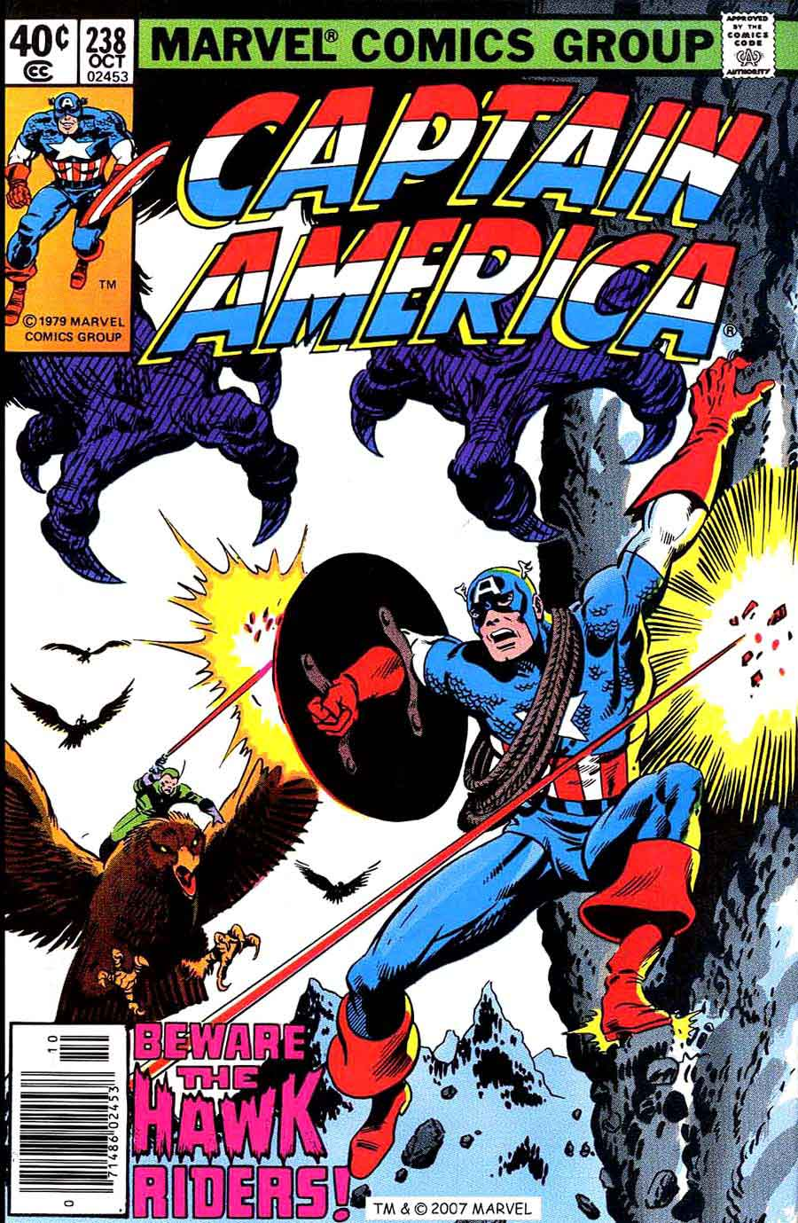 Captain America #238 marvel 1970s bronze age comic book cover art by John Byrne