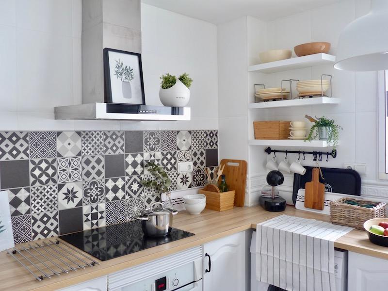 Una pizca de hogar reforma de mi cocina sin obras - Cubrir azulejos sin obra ...