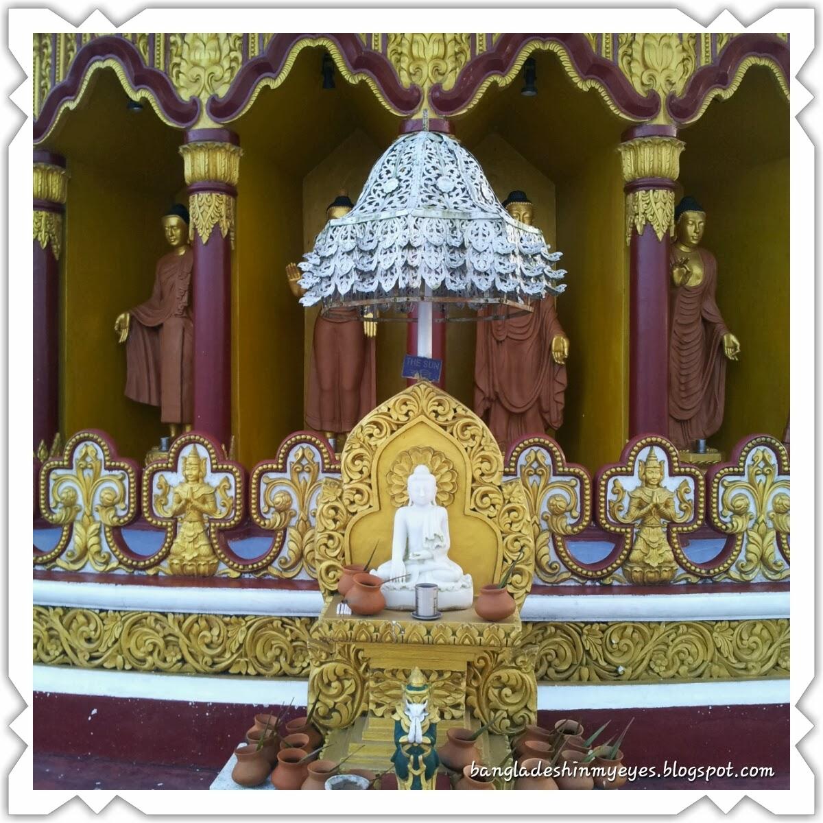 স্বর্ণ-মন্দির, বৌদ্ধ-ধাতু-জাদি