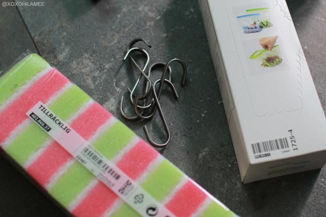 Japanese fashion blogger,Mizuho K,What's new in august? IKEA 食器洗いスポンジ、S字フック、ジップ付きプラスチック袋