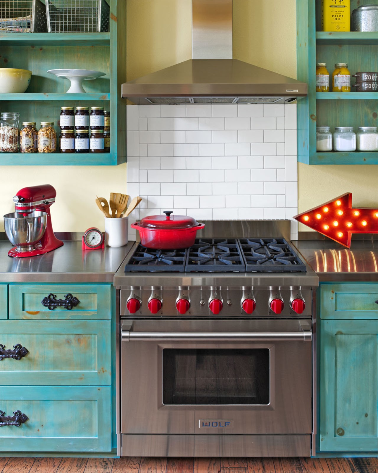 Colorful Kitchen Accessories Counter Options Decor Inspiration Kitchens That Work Design