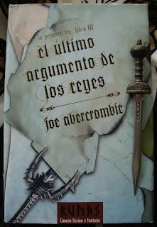 Portada del libro El último argumento de los reyes, de Joe Abercrombie