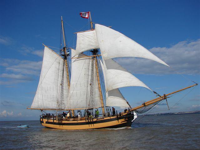 Sloop Hispaniola Treasure Island