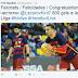 Barcelona gratuliert Lazarov zum 800. Tor