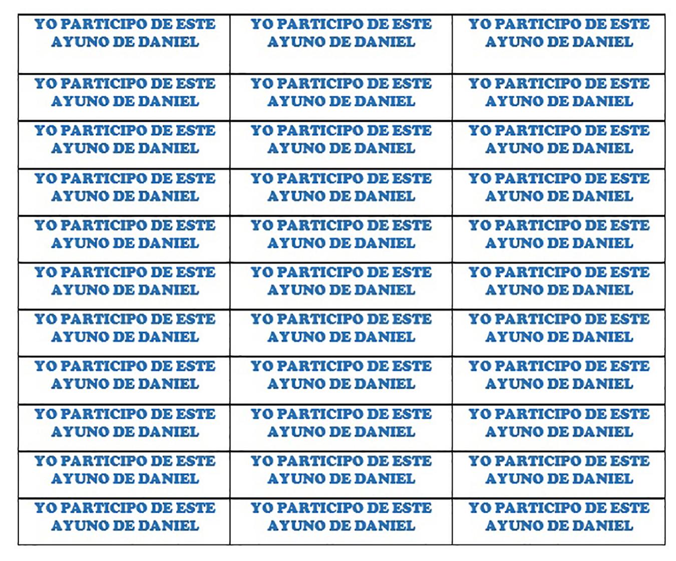 Recuerdo Ayuno De Daniel Ebi Mexico
