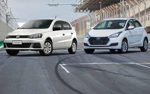 Hyundai HB20 1.0 x Volkswagen Gol 1.0 2017