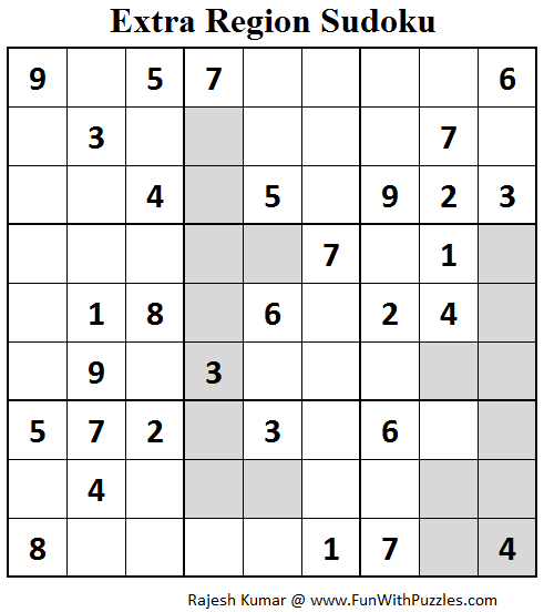 Extra Region Sudoku (Fun With Sudoku #74)