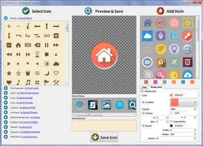 تحميل برنامج Iconion لتصميم الأيقونات وشعارات ولوجوهات المواقع